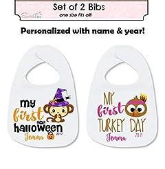 My First Halloween Bib Set My First Than...