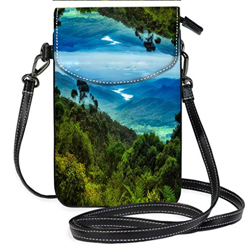 Multicolor Shoulder Messenger Bag Phone Purse Views Over Lamington National Park Casual, Lightweight Multi Pockets Crossbody Bag - Lamington National Park