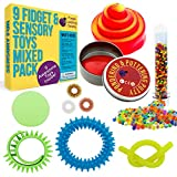 Sensory Toys Set for Kids - 9 Fully Tested Fidget Toys for Stress and Anxiety Relief in a Wrappable...