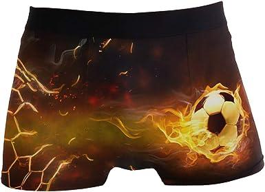 Mens Comfortable Underwear Soccer Football Boxer Briefs for Men