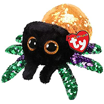 Ty- Flippables Small TY36335 - Sequins Glint Spider Soft Toy, 15 cm, Multicoloured: Toys & Games