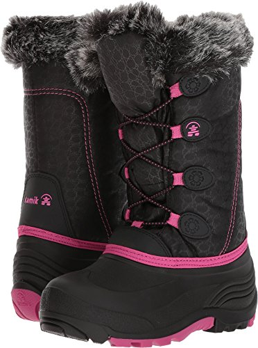 Kamik Snowgypsy Snow Boot, Black/Magenta/Bmm, 11 Medium US Little Kid ()