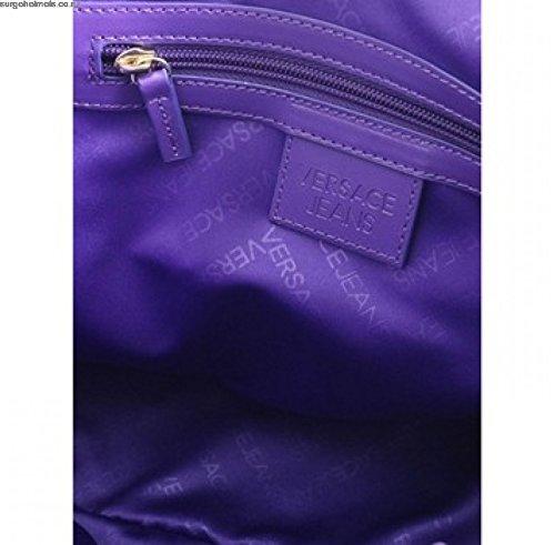 Versace, Borsa a spalla donna Viola Violett Medium