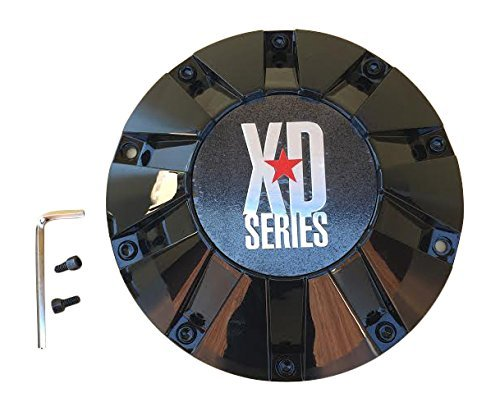 KMC XD SERIES 806 BOMB 451L215-B001 MB452S 451L215 LG1108-11 Black Center Cap