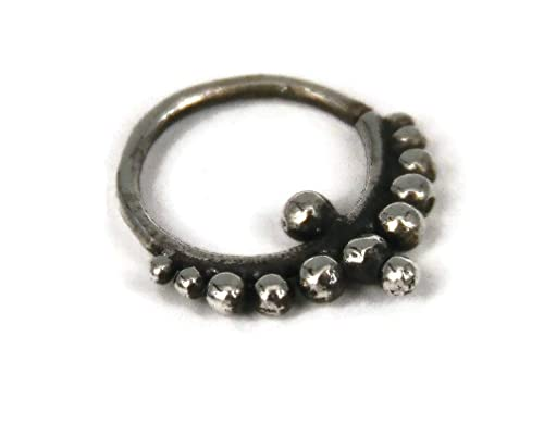 Tribal Septum Ring Silver Septum Septum Piercing 16G Septum Ring Sterling Silver Septum S27 Indian Septum Ring Septum Jewelry