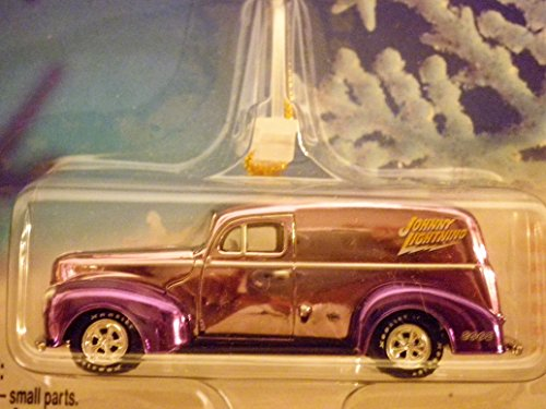1940 Ford Sedan Delivery (metallic purple) Holiday Ornament with Removable Hanger 1:64 scale die-cast by Johnny Lightning