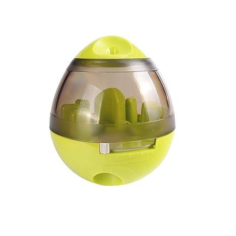 RUNFON - Vaso interactivo para mascotas, comederos para perro, para comer, fugas, comida para perro, juguete para ...