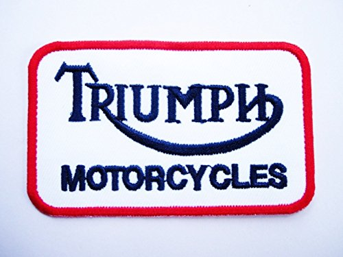 Motorcycles Iron Applique embroidery /Écusson brod/é Racing Car Team patch Triumph blue white red Motorsport