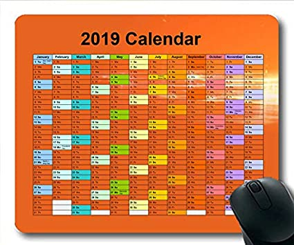 Gaming Calendar 2019 Amazon.: 2019 Calendar Mouse pad for Gaming, Calendar USA