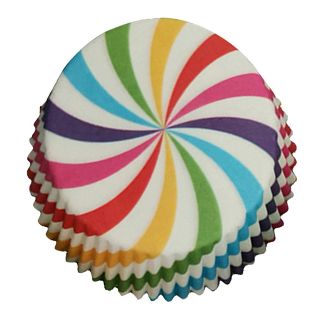 Dolloress 100pcs Colorful Paper Cake Cupcake -Liner Case Wrapper Muffin Baking Cup Party
