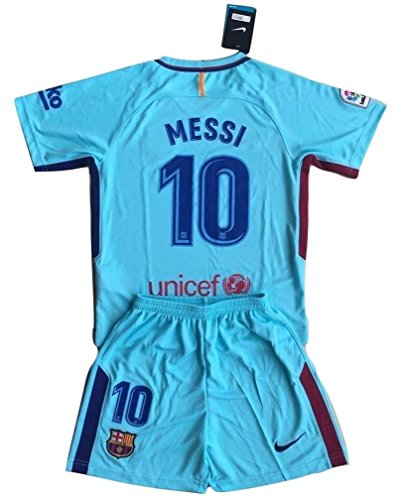 MilkaGGT Messi #10 FC Barcelona 2017-2018 Youths/Kids Away Soccer Jersey & Shorts (11-13 Years Old) by MilkaGGT
