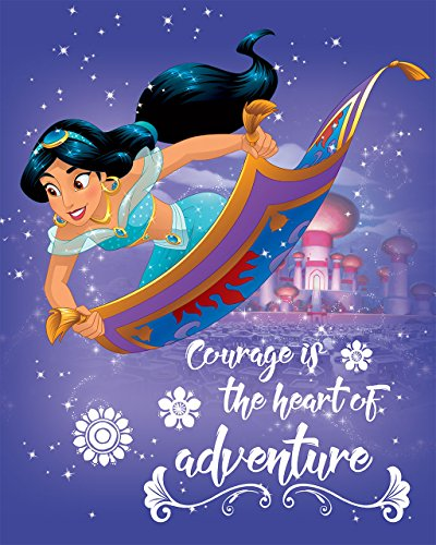 Aladdin's Princess Jasmine Courage is the Heart of Adventure Printed Canvas 16W x 20H x 1.25D by Artissimo Designs
