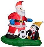 5 ft. Inflatable Santa Soccer Scene