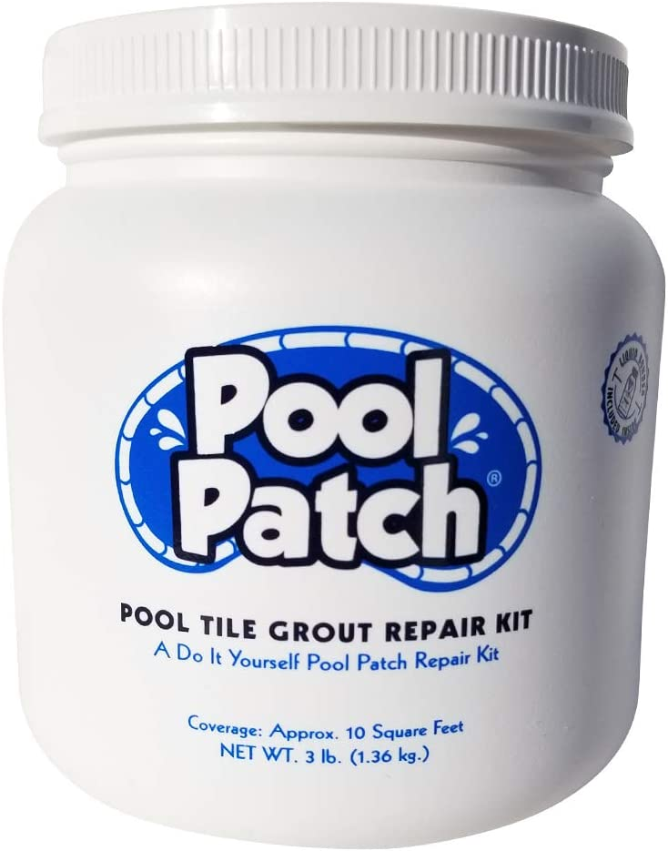Pool Patch White Pool Tile Grout Repair Kit, 3-Pound, White