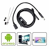 QMSSIC 7MM Lens 3M(10ft) Micro USB Endoscope Inspection Borescope Camera Snake Industrial Cameras Brightness For ANDROID OTG SMARTPHONES / PC / Mac
