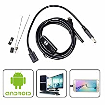 QMSSIC 5M/16.5ft Android Endoscope USB Inspection Borescope Camera Snake Camera 7MM Lens Waterproof for Android Phone (with OTG and UVC Function)/PC/Laptops