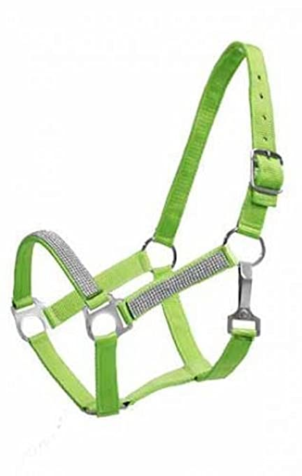 Adjustable COBB Size 2 Ply Nylon HALTER with Running Horse Overlay