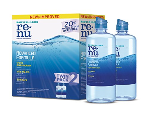 ReNu Advanced Formula, Contact Lens Solution for Soft Lenses, Multi-purpose, 12 Ounce, 2 Count