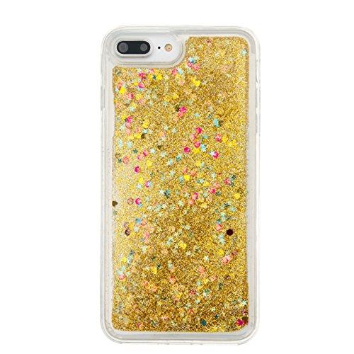 Für Apple iPhone 7 Plus (5,5 Zoll) Hülle ZeWoo® TPU Schutzhülle Silikon Tasche Case Cover - GS128 / golden