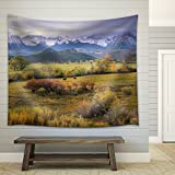 wall26 - on a Rare Overcast Morning in Southwest Colorado, a Rancher Rounds Up the Last Stray Cattle Just Before Daybreak. - Fabric Wall Tapestry Home Decor - 68x80 inches