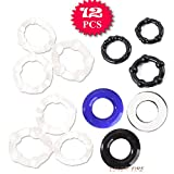Love Fire Male Dream 12 Pcs Assorted Waterproof Stretchy Premium Penis Dick Hot Sales Cock Penis Ring Man Stay Hard Erection Enhancer Sex Delay Toy Male Dream Essentials Crazy Cockrings