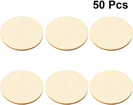 50pcs Rustic Oval Wooden Pieces Wood Craft Cardmaking Scrapbooking DIY
