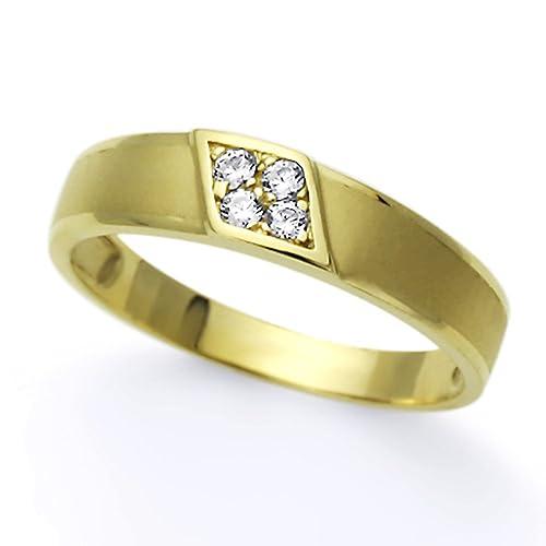 Pequeños Tesoros - Anillo de mujer - de oro amarillo (14k) Boda y de
