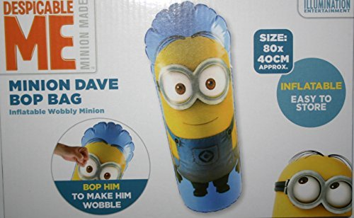 Hinchable Despicable Me Minion caja bolsa para Dave o de Kevin 3D juguetes para interior y exterior Grafix 280052