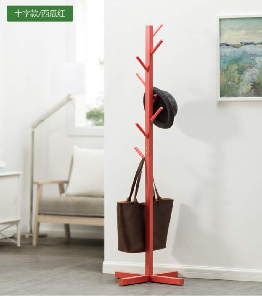 E Dixinla Coat Stand,Solid Wood Coat Rack Simple Modern Hanger Hotel Living Room Bedroom greenical Hanger Decorative Furniture