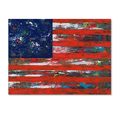 American Flag by Patricia Alvez, 35x47-Inch Canvas Wall Art