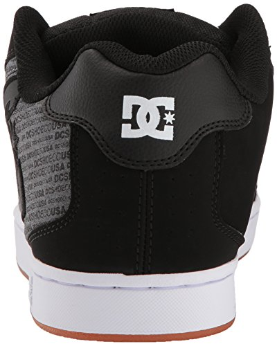 Mens DC Net SE Skate Shoe, Heather Black, 10 D D US