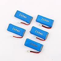 RONSHIN 5pcs Upgraded 25C 3.7V 380MAH Battery for Hubsan X4 H107 Ladybird RC Quadcopter Mini CP Genius CP