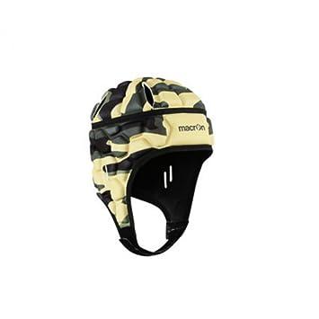 Macron Casco Rugby Helmet XE IRB Amarillo Negro XL