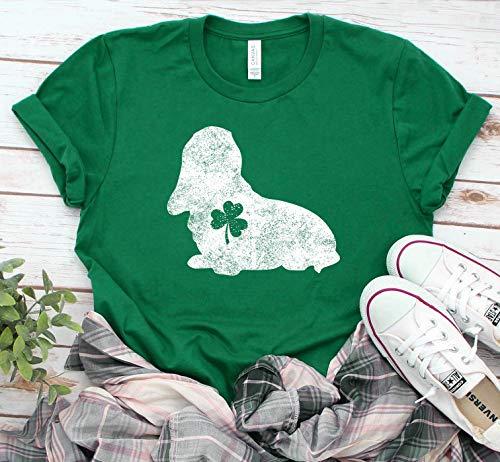 Basset Hound Lucky Shirt St Patricks Day T-Shirt St Patricks Gift Shamrock Tee St Paddys Day Shirt Clover Shirt Dog Owner Shirt