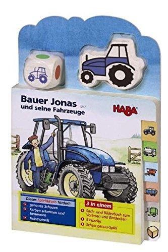 Bauer Jonas und seine Fahrzeuge (Spiel & Buch) Pappbilderbuch – 1. November 2005 HABA Karolin Borker Habermaass 3936553173