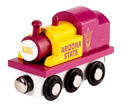 (College Team Trains NCAA Arizona State Sun Devils Kids Toy Engine, Small)