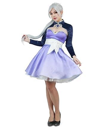 8112fb1a8a621 Miccostumes Women's Volume 4 Weiss Schnee Cosplay Short Dress