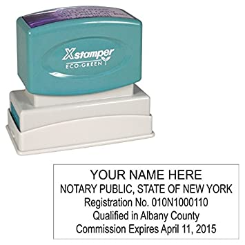 Xstamper Pre Inked Custom Stamp N14 New York Notary Stamp 5 8 X 2 7 16
