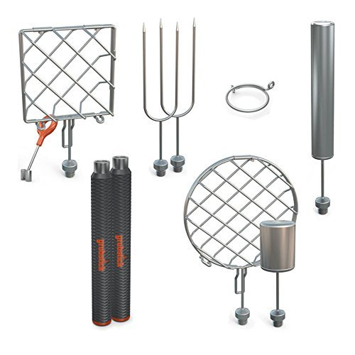 Grubstick Deluxe 13 Piece Kit- Your Last Roasting Stick | Premium Campfire 37'' Telescoping/Extendable Reusable Skewer Kit | for Marshmallows, Hot Dogs, Smores, and More - Dishwasher Safe by Grubstick (Image #7)