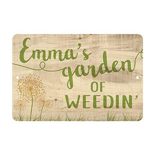 Personalized Garden of Weedin' Metal Sign