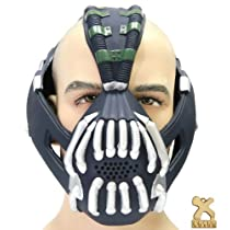 Bane Mask Costume Accessories TDKR Cosplay Halloween Fancy Dress Party Props Silver