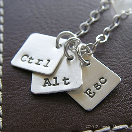 Personalized Necklace - Computer Key Charms