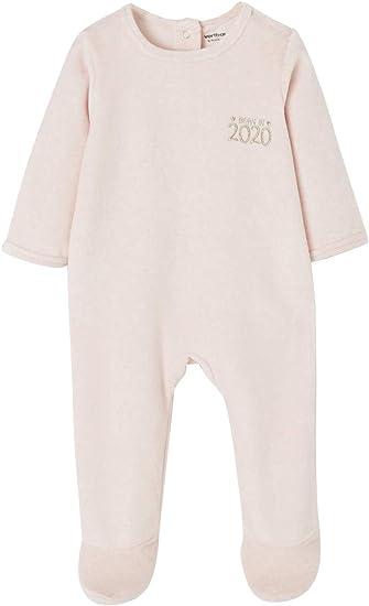 VERTBAUDET Pijama bebé de terciopelo jaspeado con automáticos ...