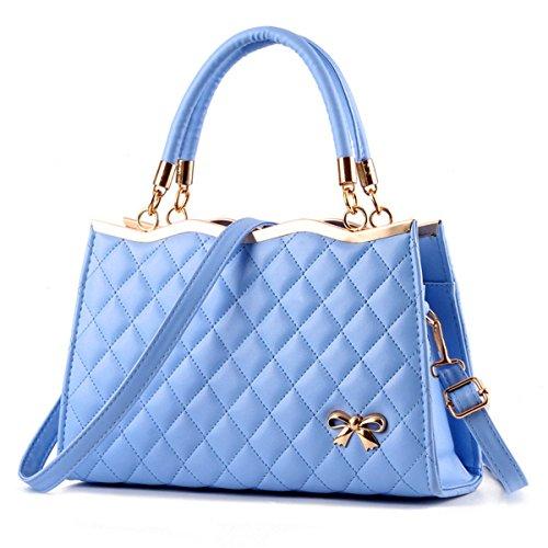 Borsetta donna moda borsa a tracolla diagonale, pacchetto blu cielo