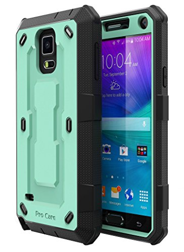 Note 4 Case, Galaxy Note 4 Case, E LV Galaxy Note 4 Case - SHOCK ABSORPTION / HIGH IMPACT RESISTANT Full Body Hybrid Armor Protection Defender Case Cover for Samsung Galaxy Note 4 - [MINT/BLACK]
