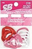 Susan Bates Heart Shape Stitch Marker, Large, 15 Per Package