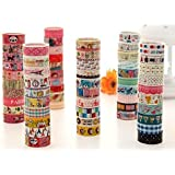 10 Kawaii 5M Tapes Mix Designs Cartoon Adhesive Tape Set for Scrapbooking/Craft