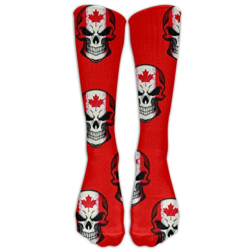 Canada Leaf Skull Unisex Funny Casual Athletic Warm Winter Crew Socks For Women For - Rate Usps Canada To