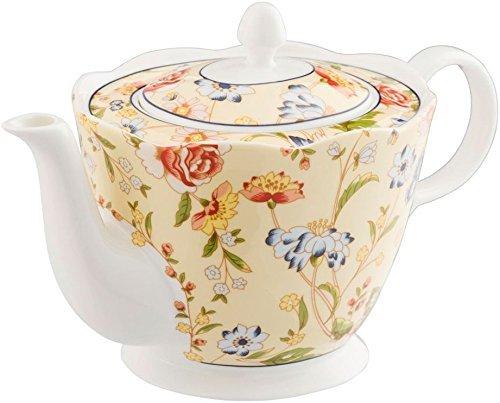 Bone China Cottage Garden - Belleek CLAS20015 Cottage Garden Teapot, Multicolor
