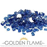 Golden Flame 10-Pound Fire Glass 1/2-Inch Cobalt Blue Reflective